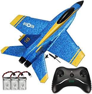 YRMJK RC Plane Remote Control Airplane Ready to Fly, 2.4GHZ 2 Channel RTF RC Glider Easy to Fly for Kids Beginners and Adu...