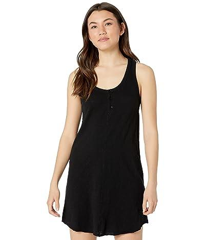 bobi Los Angeles Slubbed Jersey Henley Tank Dress