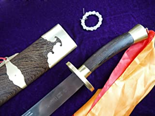 Chinese Sword/Single Broadsword/Medium Carbon Steel/Rosewood Scabbard/Copper Fittings/Length 38