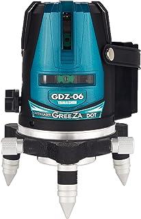 山真製鋸(YAMASHIN) グリーンレーザードット照射墨出し器 GDZ-06 DOT(本体のみ)モデル GDZ-06 DOT (4方向大矩・4垂直・1水平ライン照射タイプ) レーザーライン(緑)