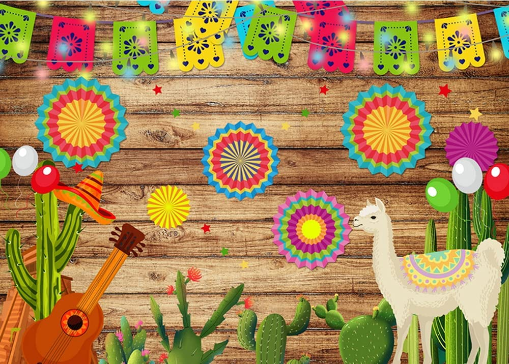 Mexican Fiesta Theme Photography Backdrop Cactus Now on sale At the price of surprise 7x5ft Gu Mexico