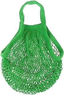 Rete per la spesa, sacco di patate in filo di cotone biologico, colore verde