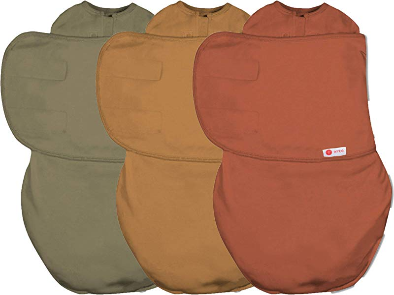 Emb Swaddle Bundle Rust Sand Moss