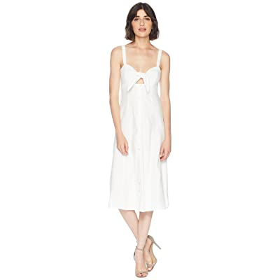 Splendid Dahlia Linen Slub Midi Dress (Off-White) Women