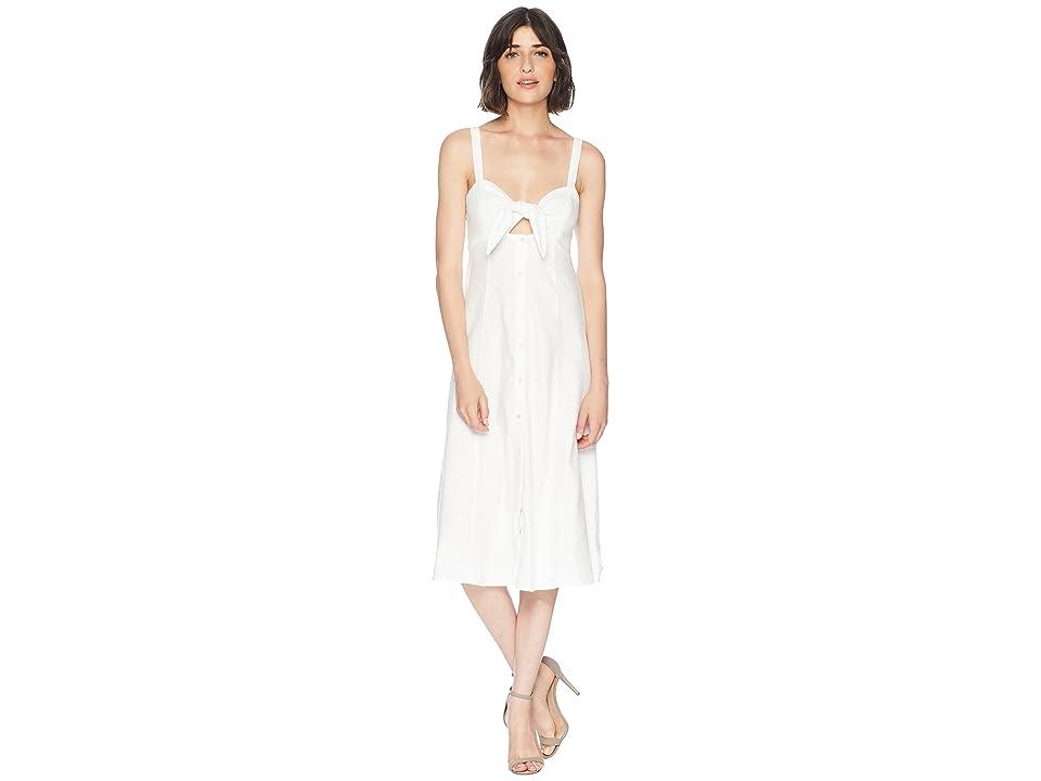 Splendid Dahlia Linen Slub Midi Dress (Off-White) Women