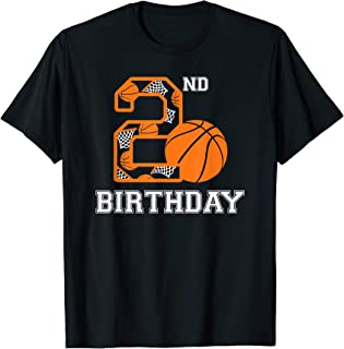 Basketball Birthday 2nd Gift for Kids Boys Girls 2 Years Old T-Shirt