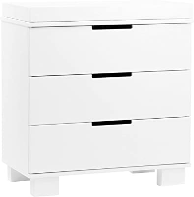 babyletto Modo 3-Drawer Changer Dresser with Removable Changing Tray in White