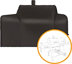 i COVER Grill Cover- Sized for Oklahoma Joe's 3 in 1 Longhorn Grill Smoker Combo Heavy Duty Water Proof Patio Outdoor Black Canvas Barbeque BBQ Grill/Smoker Cover,G21627.