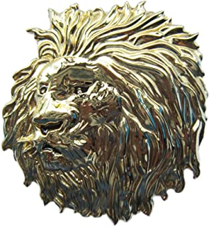 New Gold Color Plated Lion Head Animal Wildlife Western Belt Buckle