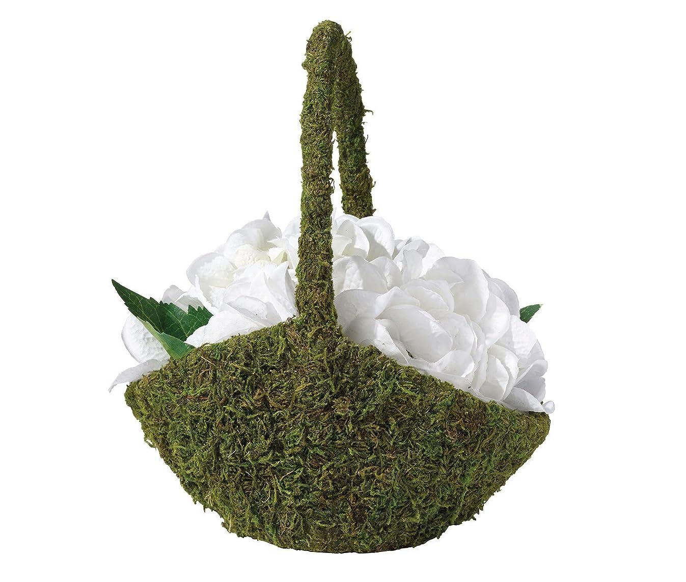 Lillian Rose Rustic Moss Green Wedding Flower Girl Basket