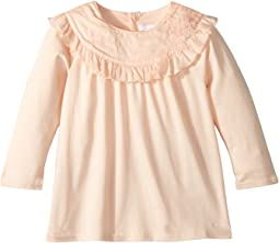 Modal Cotton Jersey T-Shirt w/ Ruffles (Infant)