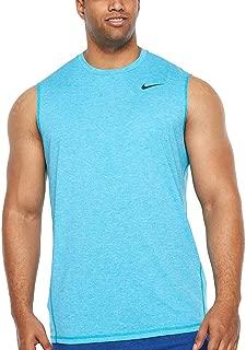 Nike Men's Big and Tall Dri-Fit Swim Fade Mist Hydroguard T-Shirt, UPF 40+ (Blue Fury, 3XL)