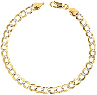4.5mm All Shiny Classic Byzantine Bracelet Lobster Lock Real 10K Yellow Gold