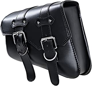 Black Solo Saddle Storage Bag with Mounting Straps For Harley Sportster XL883 XL1200 (Left)