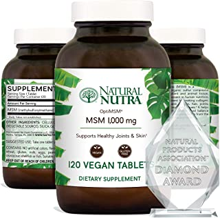 Sponsored Ad - Natural Nutra OptiMSM with Methylsulfonylmethane, Pure MSM Supplement with Sulfur, Prevent Thinning Hair, S...