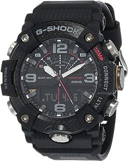 ساعة كاسيو جي-شوك بنظام انالوج-رقمي للرجال بسوار من البلاستيك المطاطي - GG-B100-1ADR