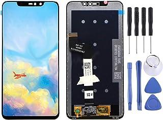 Utbytbar för skadade delar LCD-skärm och digitizer Fullständig montering för Xiaomi RedMi Not 6 Pro tillbehör (Color : Black)
