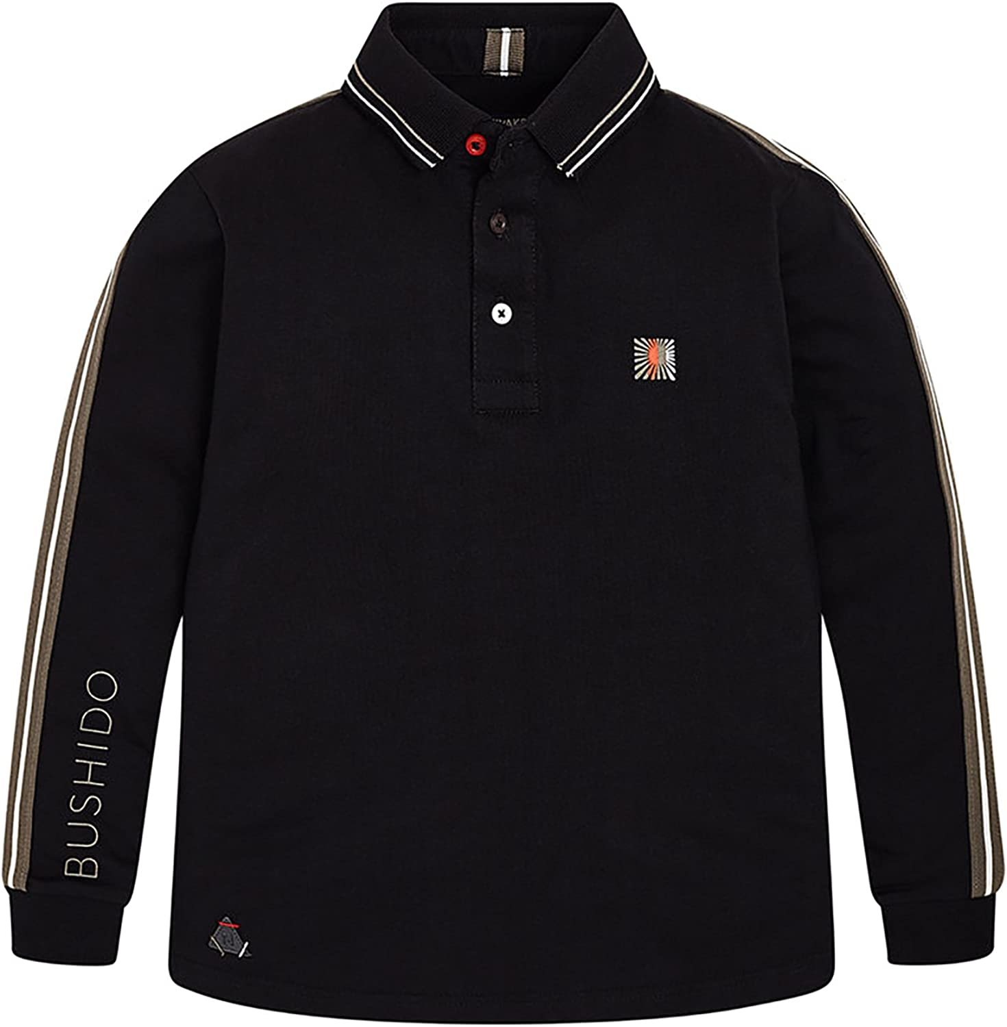 Mayoral - L/s Polo for Boys - 7106, Black
