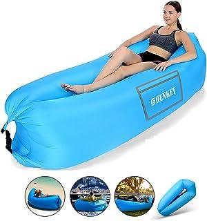 SHENKEY Sofa Hinchable,Upgrade Anti-Air Leaking Air Sofa con paquete portátil, sofá inflable y silla Air para viajes, Jardín,campamentos, excursiones y fiestas en la playa