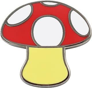 Emoji Mushroom Pin Iconic Mushroom Design - Mystic Mushroom Pin for Backpacks, Jackets, Hats, Bags & Tops