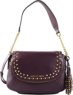 0226cf326a34 Michael Kors Aria Studded Tassel Medium Convertible Leather Shoulder  Crossbody Bag Purse Handbag