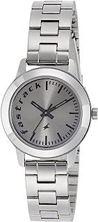 ساعة فاستراك فاندامينتالز بمينا رمادية وعرض انالوج للنساء