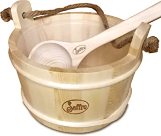 Sauna Bucket & Sauna Ladle, Sauna Accessories for Sauna, Wooden Bucket for Sauna Aromatherapy Kit, at Home Day Spa Sauna K...