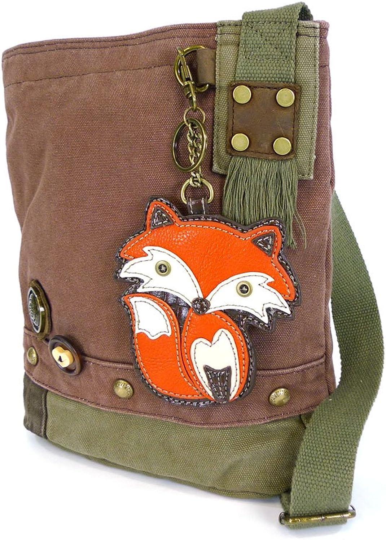Chala Handbag Patch Crossbody FOX Mauve Purple Brown Bag