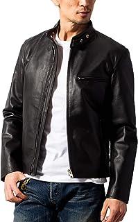 (ホーンワークス) Horn Works 本革 シングルライダースジャケット メンズ 4762 Lサイズ ブラック