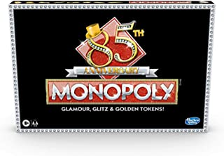 Hasbro Monopoly 85TH Anniversary Edition Board Game, Celebrating 85 Years of Monopoly; With Golden Tokens; Classic Monopol...