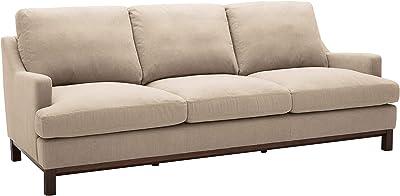 Amazon.com: Sauder 412787 Durant Microfiber Sofa: Kitchen ...