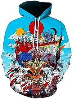 Men Cosplay Naruto 3D Print Pullover Hoodie Sweatshirt with Front Pocket