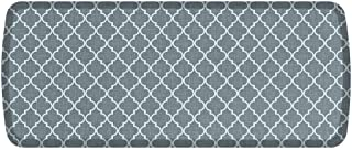 "GelPro Elite Premier Anti-Fatigue Kitchen Comfort Floor Mat, 20x48"", Lattice Mineral Grey Stain Resistant Surface with Therapeutic Gel and Energy-return Foam for Health and Wellness"