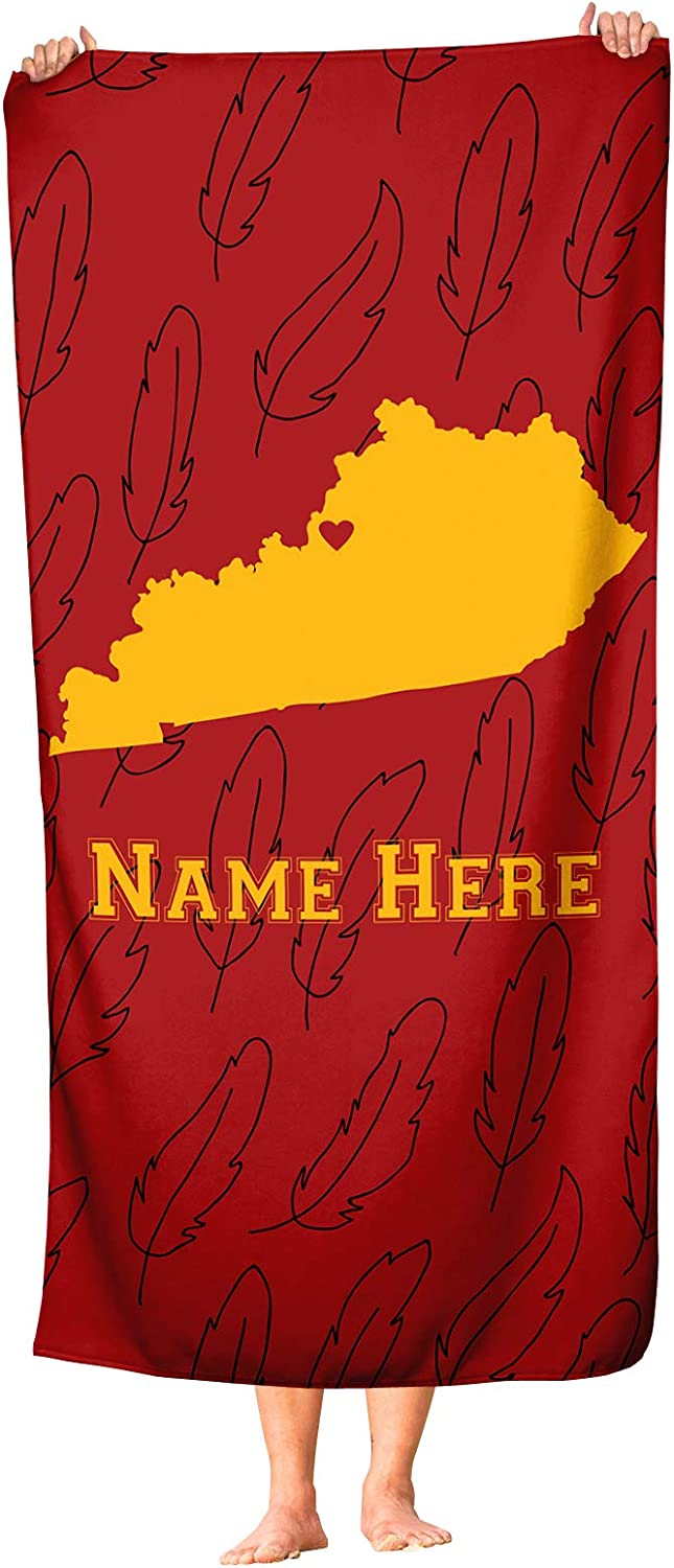 Louisville Kentucky - State Pride Beach Bath and High quality Gifts new Towel Custom