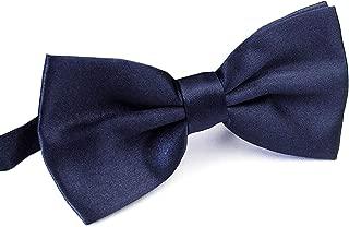 AWAYTR Men's Pre Tied Bow Ties for Wedding Party Fancy Plain Adjustable Bowties Necktie