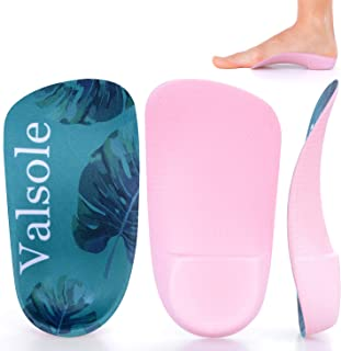 Valsole 3/4 Orthotics Shoe Insoles High Arch Supports and Deep Heel Cup Shoe Inserts, Relief Plantar Fasciitis, Flat Feet, Over-Pronation, Heel Spurs & Foot Pain (Men5-6/Women6-7)