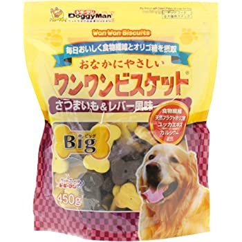 ドギーマン 犬用おやつ おなかにやさしいワンワンビスケットBig 450g