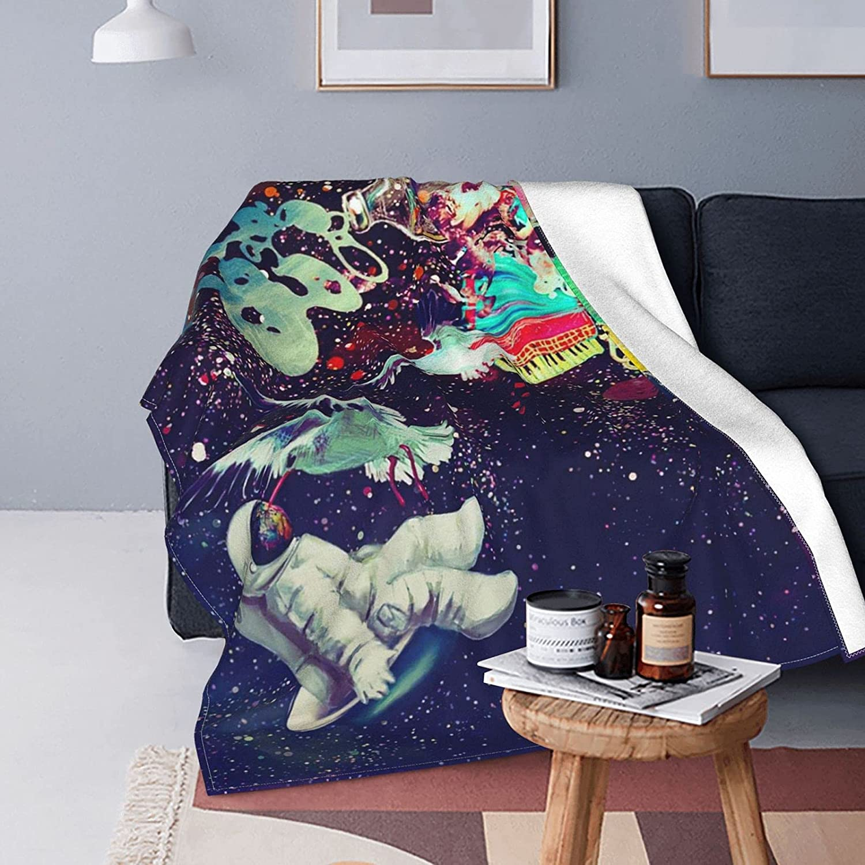 Astronaut Galaxy Throw Blankets Camping Lightweight Bombing new work gift Warm Flanne