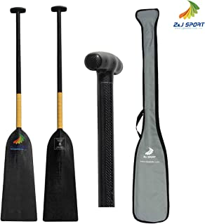 ZJ Sport New IDBF Approved 1-Piece Carbon Fiber Dragon Boat Paddle Storm Model