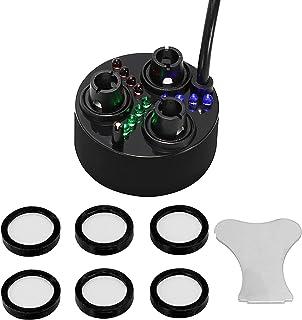 Mxmoonant 3 Head Vijvermistmakers Ultrasone Fogger Plastic Verstuiver Luchtbevochtiger 1500mL/H met 6 Reserve Vernevelings...