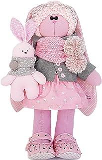 Stuffed rabbit 14 inch for girl, Easter bunny, fabric doll, handmade
