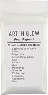 Mica Pearl Pigment Powder (Pearl White) - (.88 Ounce/25 Grams) - 10+ Colors Available