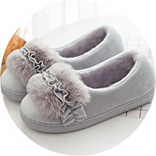 Bottom Winter Indoor Shoes Women Female Thick Slippers Home Warm Hair Cotton Cute Bags Moon Shoes Autumn and Winter