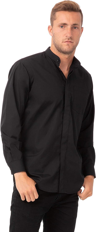 Chef Works Men's Banded Collar Shirt
