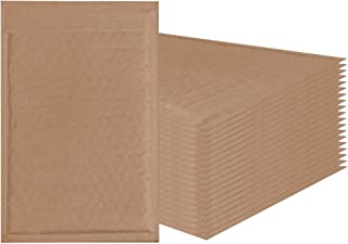 AMZ Supply Natural Kraft bubble mailers 6x9 Brown Padded envelopes 6 x 9 by Amiff. Pack of 20 Kraft Paper cushion envelopes. Exterior size 7x10 (7 x 10). Peel and Seal. Mailing, shipping, packaging.