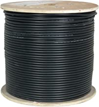 Vertical Cable CAT6A UV Rated Outdoor Bulk Cable 1,000ft. - Black