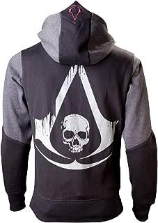 Unisex-Adults Assassins Creed Black Flag Beak Hoodie (Black)