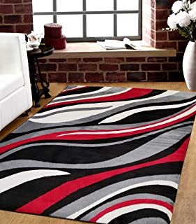 SavaHome 1125_BLC_BNE 5 feet by 7 feet Decorative Area Rug Designer's Choice Extremely Durable Stain Resistant Smooty Cozy Pet Friendly, Impressed Rich Color