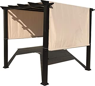 ALION HOME Rod Pocket Waterproof Universal Replacement Shade Canopy Top Cover (4 Corner Grommets) for Pergola (16' X 10', Beige/Tan)