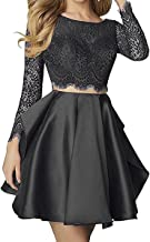 Best black long sleeve prom dress two piece Reviews